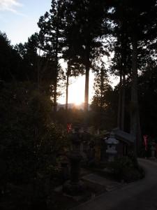 国束寺より初日の出