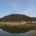 度会町平生から見た国束山